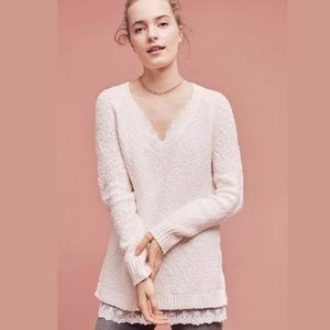 Anthro Knitted & Knotted Betten V-Neck Sweater